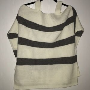 NY&Co Strip Cold-Shoulder Sweater NWT